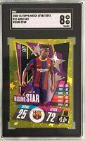 Ansu Fati 2020-21 Topps Match Attax UEFA Rising Star Gold Foil SGC 8