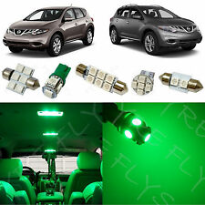 9x Green LED lights interior package kit for 2009-2014 Nissan Murano NM3G