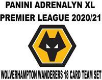 Panini Premier League 2020/21 Adrenalyn XL WOLVES 18 Card Team set inc Badge