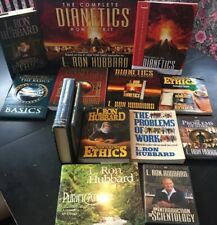 Scientology & Dianetics L. Ron Hubbard       Huge Lot Of Books & DVDs