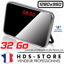 RVLD RÉVEIL CAMERA ESPION DESIGN 960P + MICRO SD 32 GO ANGLE 140° DÉTECTION