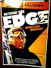 "Warren Miller's Beyond the Edge ORIGINAL 1986 One Sheet Movie Poster 27""x 41"""