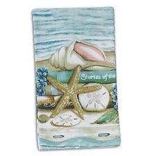 """Sea Shell """"Stories of the Sea"""" Kitchen Terry Towel - V0070"""