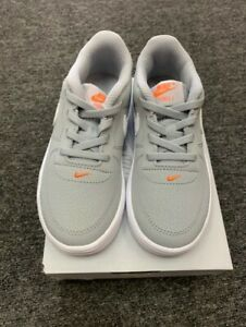 Nike Force 1 18 TD AF1 One Low Toddler Infant Baby Sneakers WOLF GREY / WHITE