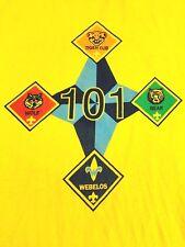 Vintage Boy Scouts of America Shirt Boy Scouts 101 Tiger Cub Bear Wolf Youth XL