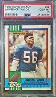 1990 Topps Tiffany #52. Lawrence Taylor. PSA 10 !!HOFer!! (POP 14) HOC85🔥
