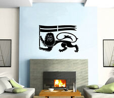 Lion and Flag Sign Warrior Decor Mural Wall Art Decor Vinyl Sticker z396