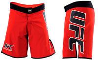 NEW! UFC Fight Shorts - Red & Black MMA BJJ Boxing Kickboxing Mixed Martial Arts