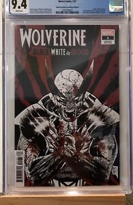 Wolverine Black White & Blood 1 Tony Daniel 1:25 Error Double Cover CGC 9.4