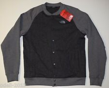 The North Face Men's Bristol Bomber Jacket Snap Front Gray Size M NEW