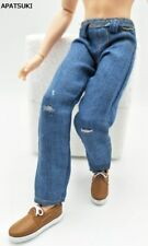1/6 Doll Clothes Blue Handmade Jeans Pants For Ken Doll Trousers For Male Ken