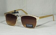 NWT Steve Madden S5474-GLDGL Rivit  Womens Sunglasses
