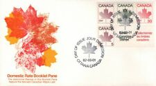 1982 #945a Maple Leaf Booklet Pane FDC with Fleetwood cachet