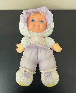 VTG Fisher Price Merri Puffalump Kids Pink Doll Polka Dots Green Bib Blonde EUC
