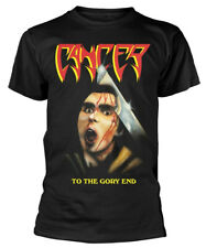Cancer 'To The Gory End' (Black) T-Shirt - NEW & OFFICIAL!