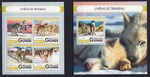 Guinea2016 Sled dogs Siberian Husky Malamute Alaska Winter Arctic stamps MNH YU