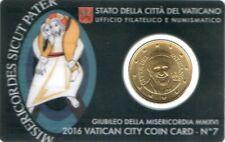50 Cent Euro de Vatican 2016 Coincard