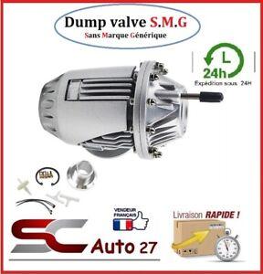 Dump Valve pour moteur turbo essence S.M.G COULEUR ALU + accessoire de montage