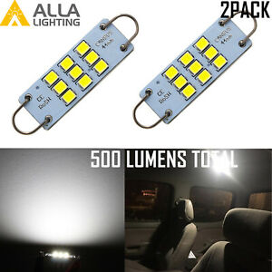 Alla LED 6K White 44MM Courtesy Light Bulb|Dome Light Bulb|Underhood Light Bulb