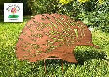 35cm rusty metal echidna stake garden sculpture decor bird ornament