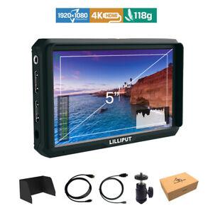Lilliput A5 5 inch 1920x1080 HD 441ppi IPS Screen Camera Field Monitor 4K HDMI