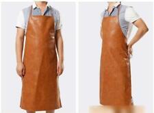 Waterproof Anti-Oil Leather Apron Restaurant Cooking Chef Bib Kitchen&Gardening
