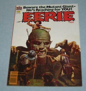 1979 WARREN EERIE HORROR COMICS MAGAZINE # 102 NEWSSTAND ISSUE SANJULIAN COVER