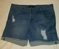 Liverpool Jeans Company Women's distressed Plus Size 22 Jean Shorts