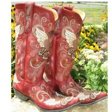 """Old Gringo Grace Red Cowgirl 13"""" Boots Size 10"""