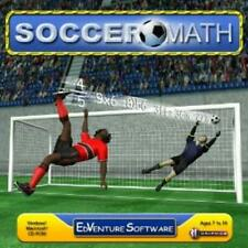 Soccer Math PC MAC CD learn mathematics division factors fractions problems game