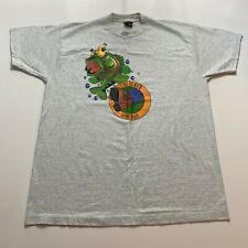 Vintage 90s Screenstars Time To Kick Some Bass T-Shirt Size XL Gray Made In Usa