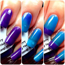 Big T Ranch Color Changing Thermal Nail Polish Custom-Blended Razzleberry