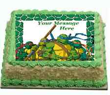 TMNT teenage mutant ninja turtles Cake topper edible image icing Real Fondant
