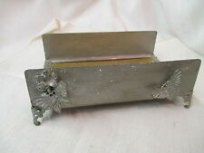 Vintage silver gilt metal Tissue box Holder with Butterflies