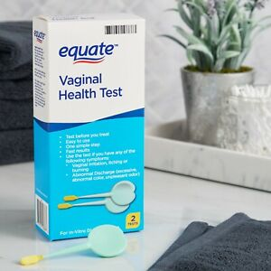 NEW Equate Vaginal Health Test, 2 Count, Measures Abnormal Acidity Best by 09/23
