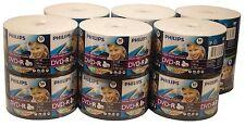 600 PHILIPS Blank DVD-R White Inkjet Printable 16X 4.7GB Disc + 600 White Sleeve