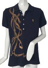 NEW Polo Ralph Lauren Womens Polo Shirt!  3 Colors  Huge Equestrian Horse Print