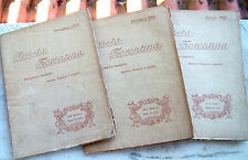 1908 LOTTO DI 3 'RIVISTA FIORENTINA'. ARTE STORIA FAMIGLIE NOBILI E PALAZZI