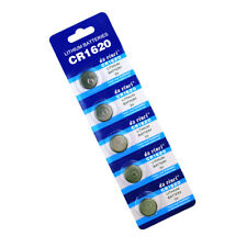 5 X CR1620 3 VOLT LITHIUM BUTTON/COIN BATTERIES FOR CAR KEY REMOTE FOB ETC