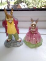 ROYAL DOULTON BUNNYKINS X 2 FIGURES POLLY & FATHER BOTH IN VGC