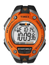 Timex T5k529 Ironman Triathlon Black & Orange 30 Lap Sport Watch No 3045