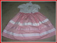 Maggie & Zoe Pink and White Color Baby Girls Dress Size: 18 Months New
