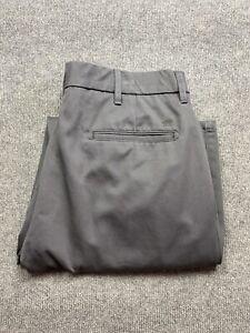 Haggar H26 Mens Slacks Pants Size 34 x 32 Grey Classic Fit Straight Pleated