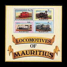 Mauritius, Sc #479a, MNH, 1979, S/S, Trains, Locomotives, Rairoads, 1IAI