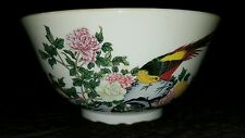 "Lenox Of Japan Birds Of Paradise Peony Floral Serving Bowl 8.5"" dish"