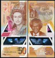 East Caribbean 50 Dollars ND 2019 P 58 POLYMER QE II UNC