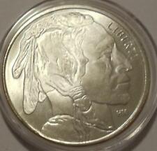 New ListingNative American Indian & Buffalo Solid 1 oz .999 Fine Silver ~Highland Mint *Bu*