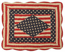 Betsy Patriotic Americana Stars & Stripes Quilted Placemat