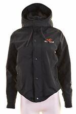 HOLLISTER Womens Rain Jacket Size 10 Small Navy Blue Nylon Loose Fit  HD09
