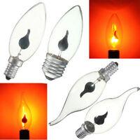 Chaud! E27 E14 FLICKER Feu Flamme Bougie Ampoule Atmosphère Xmas Décor Lampe